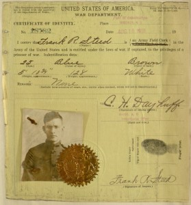 Steed's Certificate of Identity