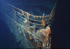 Bow of the RMS Titanic wreck