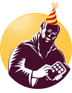 Aurelius logo with party hat