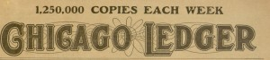 Chicago Ledger Masthead