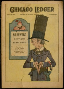 Cover, Chicago Ledger, v. XLVIII, no. 51, Saturday, December 18, 1920.