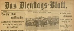 Das Dienstags=blatt, May 9, 1916.