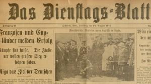 Das Dienstags=blatt, August 28, 1917.