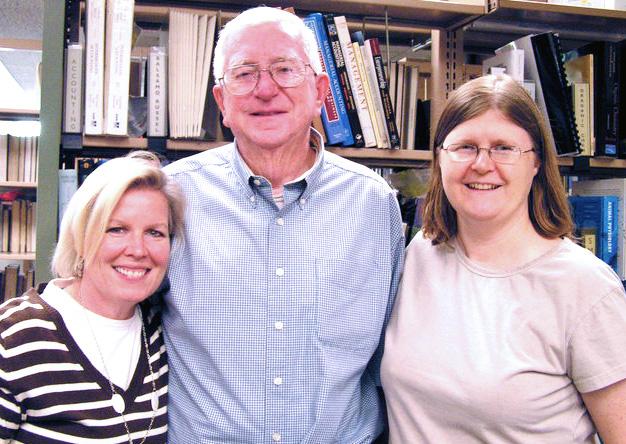 Jim Fox with Joanne Quinn and Luisa Cywinski in 2010