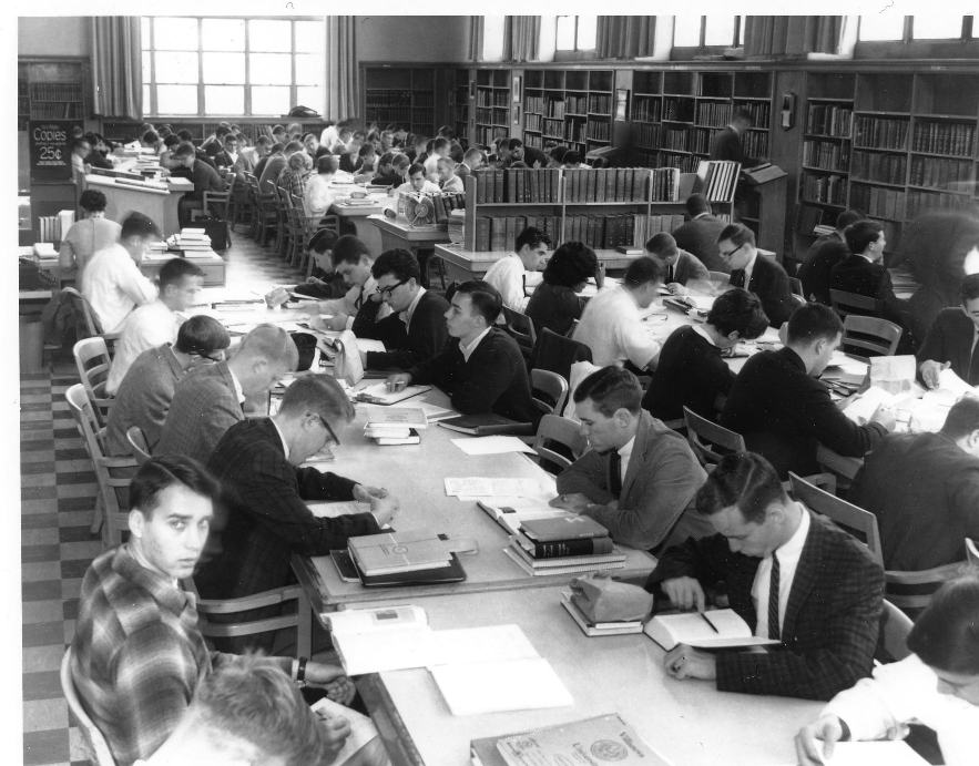 Reading Room known as Reference room 1964