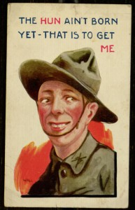 Postcard, To: PFC W. Myers From: Harry A. Myers, April 15, 1919.