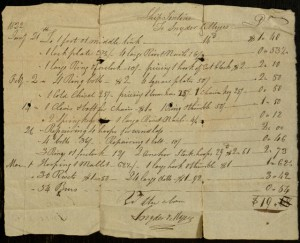 Receipt, To: Ship Tontine From: Snyder & Myers, March 1, 1822.