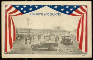 "Postcard, ""A Militia Camp"", [n.d.]"