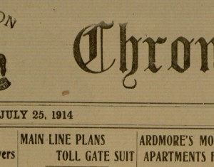 Saturday, July 25, 1914, Ardmore Chronicle.