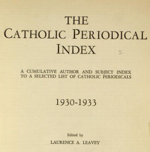 Title page,  The Catholic periodical index, 1930-1933.