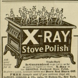 X-Ray Stove Polish Ad,     The People's Home Journal, v. XXI, no. 1, January 1906.