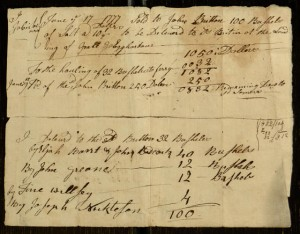 Receipt, To: John Britton From: Job Somers, June 17, 1777.