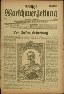 Deutsche Warschauer Zeitung, nr. 26, Thursday, January 27, 1916.