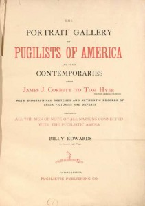 Title page, Portrait gallery of pugilists of America and their contemporaries.