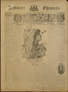 Cover, Easter Issue, Ardmore Chronicle, 1914.