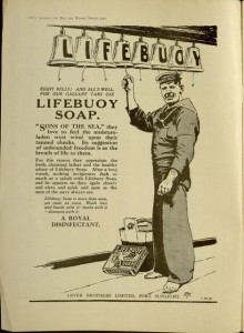 Lifebuoy Soap ad, Inside front cover, T. P.'s journal for men and women, v. V, no. 60, March, 1917.