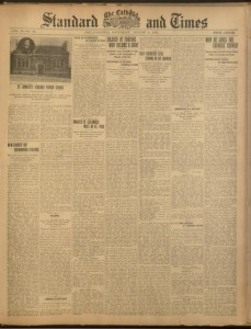 Front cover, The Catholic Standard and Times, v. 19, no. 39, Saturday, August 8, 1914