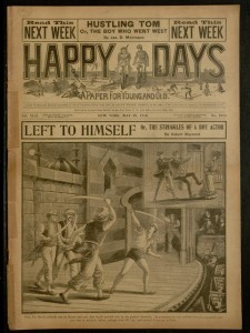 Front cover, Happy days : a paper for young and old, v. XLII, no. 1074, May 15, 1915
