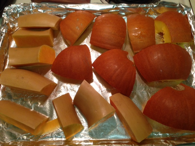 pumpkin pieces