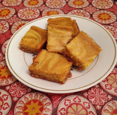 pumpkin squares plated