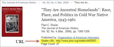 JSTOR url