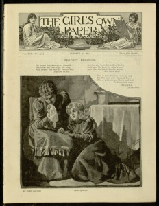 Front cover, The Girl's own paper, v. XIX, no. 931, October 30, 1897
