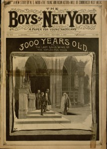 Front cover, The Boys of New York : a paper for young Americans, v. 13, no. 633, October 1, 1887