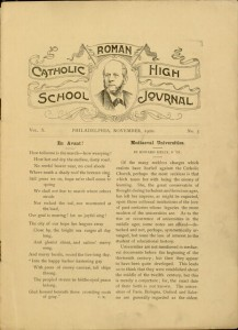 p. [1], The Catholic High School Journal, v. X, no. 3, November 1900