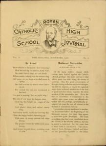 p. [1], The Catholic High School Journal, v. X, no. 3, November 1900
