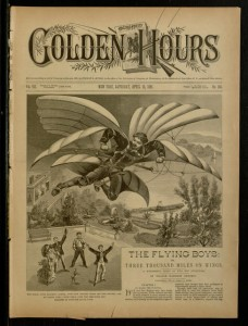 Front cover, Golden Hours : A Weekly Journal of Good Literature for Young Folks, v. VII, no. 168, Saturday April 18, 1891
