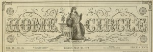 Masthead, Home Circle, v. IV, no. 21, May 25, 1872.