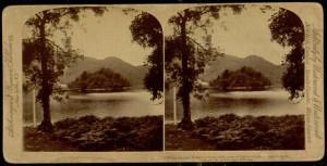 "Stereogram, ""Katrina's Lake and Island, Scotland"", 1893."