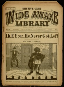 Front cover, Wide Awake Library, Ikey; or, He never got left .