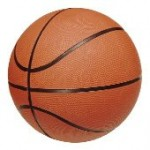 a basketball on a white background