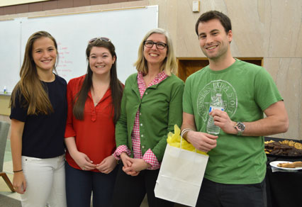 (l. to r.) Jackie Aran, Casey Bordelon, Becky Whidden, Access Services Specialist, and Grant Hoffman.