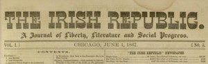 Masthead, The Irish Republic : a journal of liberty, literature, and social progress, v. 1, no. 5, June 1, 1867