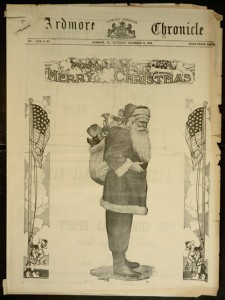 Front cover, Ardmore Chronicle - Volume XXIX, No. 62 [63 sic], December 21, 1918