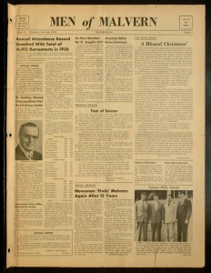 Front cover, Men of Malvern, V. 18 No. 9 December 1956
