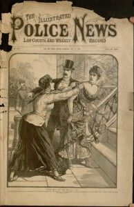 Front cover, The illustrated police news, law courts and weekly record, v. 48, no. 1232, May 31, 1890