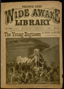 Front cover, he young engineer; or, Fighting against odds / by Howard Devere