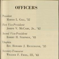 Villanova Alumnus Officers 1951