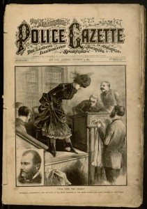 Front cover, The National Police Gazette, v. XLVII, no. 426, Saturday, November 14, 1885