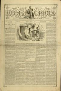 Front cover, Home Circle, v. IV, no. 15, April 13, 1872