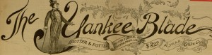 Masthead, The Yankee blade, v. L, no. 2618, Saturday, May 3, 1890
