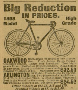 "Ad, ""Big Reduction in Prices, 1898 Model"",  p. 8, The Hearthstone, June, 1898"