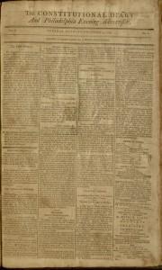 [1] p., the Constitutional diary and Philadelphia evening advertiser, v. I, no. 2, December 3, 1799