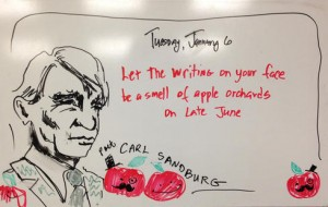 Carl Sandburg, January 6, 2015