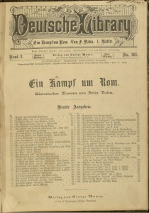 [1], Ein Kampf um Rom : historischer Roman / von Felix Dahn. 1. Hälfte