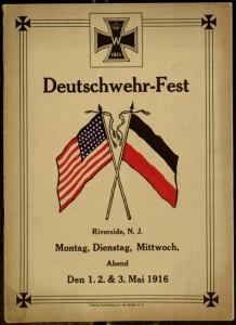 Program, Deutschwehr-Fest Riverside, N.J. Montag, Dienstag, Mittwoch, Abend Den 1.2. & 3. Mai 1916