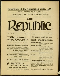 Front cover, The Republic, v. 1, no. 8, January 31, 1907